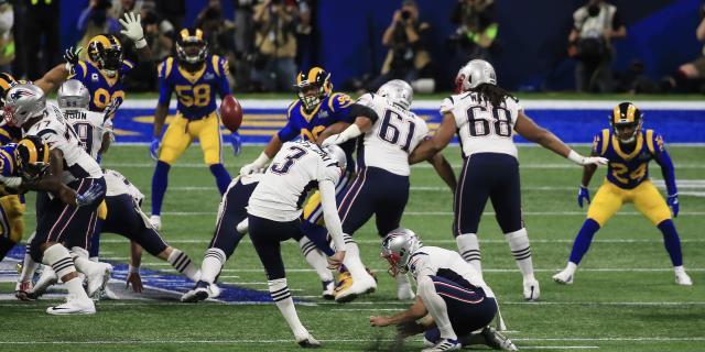 0-3. Acaba la primera parte con ventaja de los Patriots ante los Rams