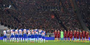 Roma y Oporto respetan un minuto de silencio en honor a Emiliano Sala