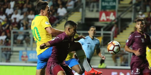 2-0.Con doblete de Hurtado Venezuela gana a Brasil en noche negra de Rodrygo