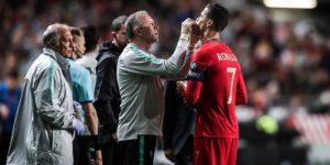 Ronaldo se lesiona y es sustituido