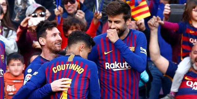 2-0. Messi resuelve el derbi en veinte minutos