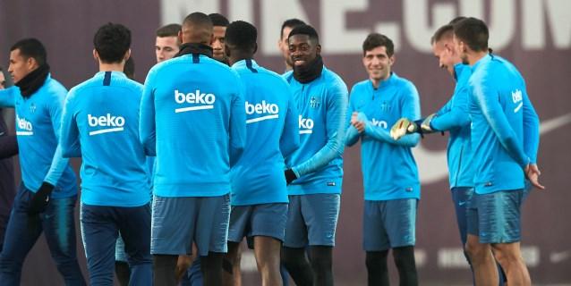 El Barça, con la duda de Dembélé, y en alerta por las sorpresas en octavos