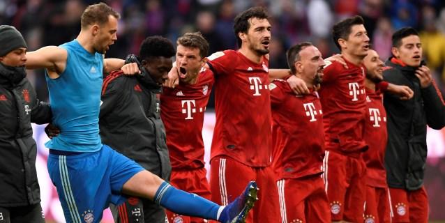 El Bayern golea y asume el liderato con mejor gol diferencia que el Dortmund