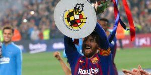 1-0. Messi remata la Liga