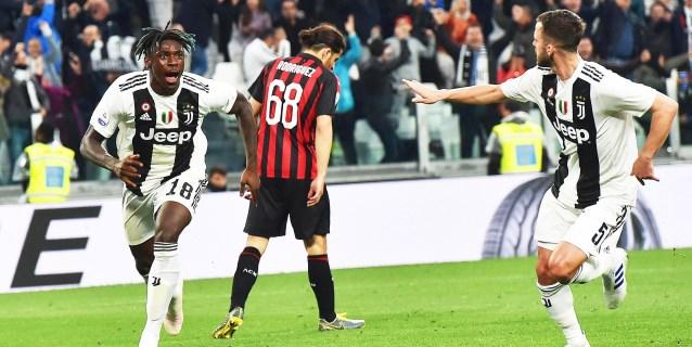 """Kean hunde al Milan y acerca la fiesta """"Scudetto"""" del Juventus"""