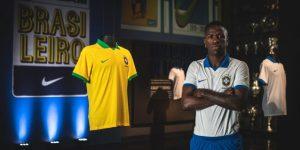Vinicius Jr presenta la camiseta blanca que Brasil usará en la Copa América