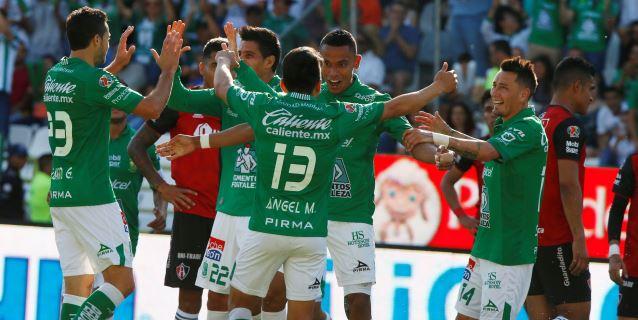 El León golea 5-2 al Atlas y llega a 12 triunfos seguidos en el Clausura