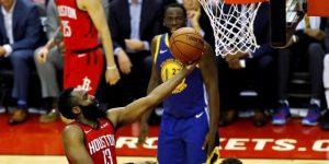 NBA: 112-108. Harden vuelve a ser verdugo de Warriors y Rockets empatan serie