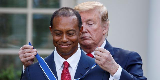 Trump le concede la Medalla de la Libertad al golfista Tiger Woods por su carrera