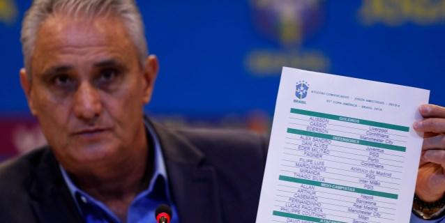 Brasil convoca a Neymar y Coutinho y no Vinicius y Marcelo para la Copa América