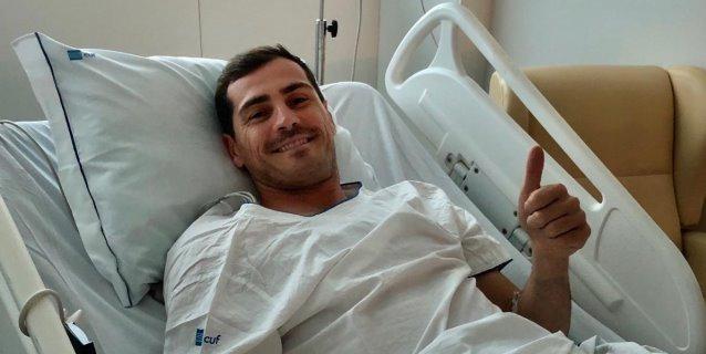 Iker Casillas evoluciona favorablemente y sin complicaciones
