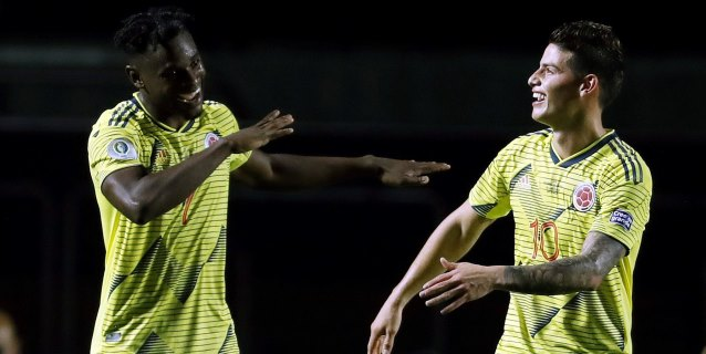 1-0. La magia de James y la racha de Zapata ponen a Colombia en los cuartos