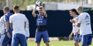 Distendido entrenamiento de Argentina tras la tensión vivida contra Catar