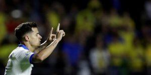 Quince goles en cinco partidos y Philippe Coutinho sigue como líder de anotadores