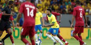 Neymar se retira lesionado del amistoso entre Brasil y Catar