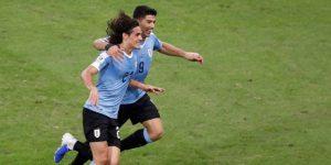 0-1. Cavani le da el triunfo y el primer lugar del Grupo a Uruguay