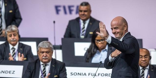 Infantino agradece a Casillas y Florentino Pérez su presencia en el Congreso