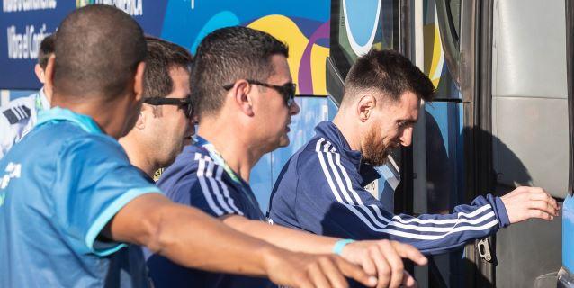 La selección argentina toma contacto con Río de Janeiro pensando en Venezuela