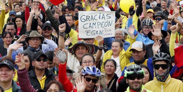 CICLISMO: El pueblo de Egan Bernal vibra con el triunfo de su héroe en el Tour de Francia