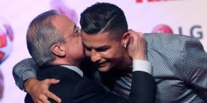 """Florentino Pérez: """"Cristiano es el mejor, se le echará de menos toda la vida"""""""