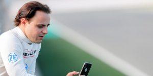 Felipe Massa va a un entrenamiento del Sao Paulo y posa con Alves y Juanfran