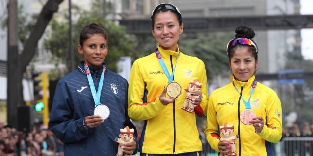 LIMA 2019 MARCHA 50KM: Dos ecuatorianas y una guatemalteca inauguran el podio de la marcha en 50 kms