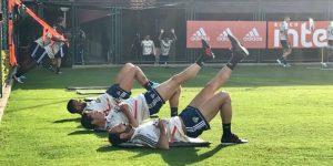Dani Alves y Juanfran realizan su primer entrenamiento con el Sao Paulo