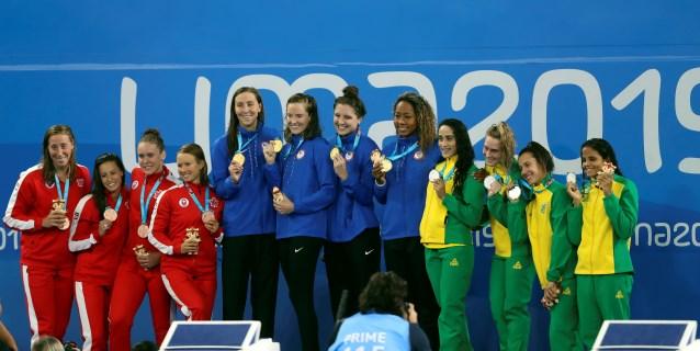 LIMA 2019 NATACIÓN: Oro para EE.UU., plata para Brasil y bronce a Canadá en 4×100 relevo libre