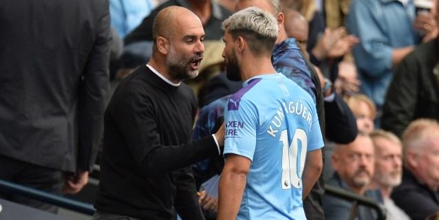 Fuerte discusión entre Guardiola y Agüero