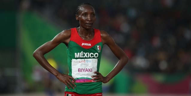 LIMA 2019 ATLETISMO: La keniana Biyaki, muy feliz con la medalla de plata en su debut como mexicana
