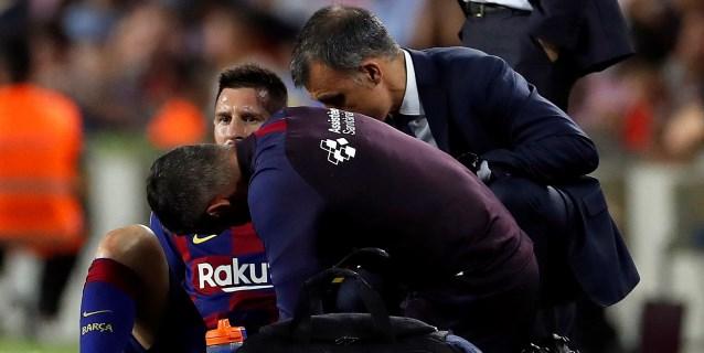 Messi sufre una elongación del adductor de la pierna izquierda