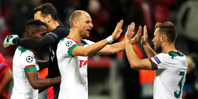 1-2. El Lokomotiv sorprende al Bayer