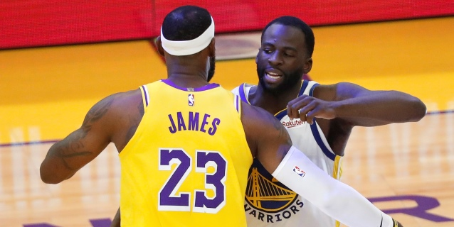 NBA: Los Lakers, con James, arrollan a los Warriors