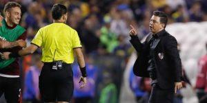 """Gallardo dice que hubo """"decisiones arbitrales escandalosas"""" en el Boca-River"""