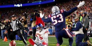 NFL: 35-14. Ante los Giants, Brady hace dos anotaciones por tierra para que los Patriots siguen invictos