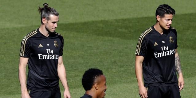 James y Bale hacen trabajo de campo pero no estarán ante el Galatasaray