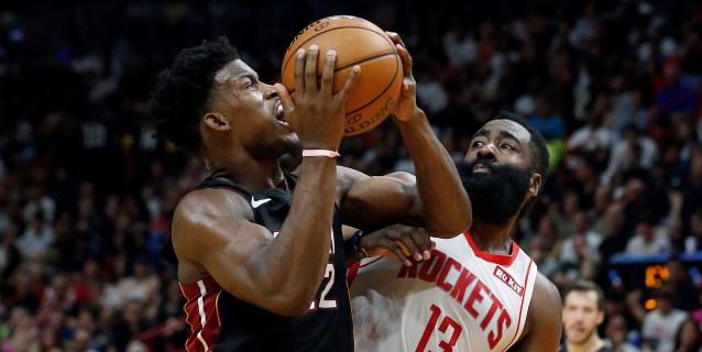 NBA: 129-100. Los Heat se imponen con una paliza a los Rockets