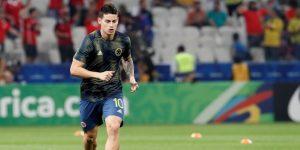 James, descartado por Colombia para el amistoso con Perú por una molestia en la rodilla