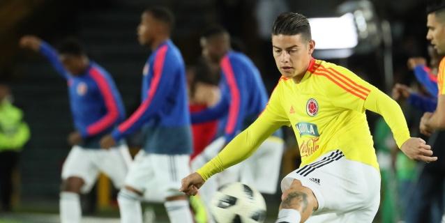 El regreso de James a Colombia centra la atención del amistoso con Perú