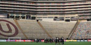 Primer y único contacto de Flamengo y River Plate con el estadio de la final