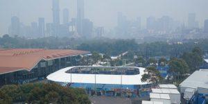 TENIS AUSTRALIA: La contaminación en Melbourne por los fuegos afecta al Abierto de Australia