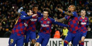 1-0. Messi le regala la primera victoria a Quique Setién