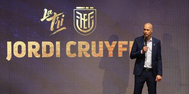 Jordi Cruyff fue anunciado como seleccionador de un nuevo Ecuador
