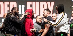BOXEO CMB: Wilder y Fury intercambian empujones en la conferencia de prensa