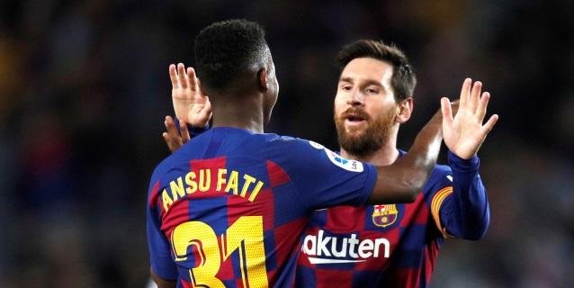 2-1. La conexión Messi y Ansu Fati, letal en un Barça a ráfagas