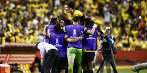 1-0. El goleador Fidel Martínez le da la ventaja al Barcelona ante el Cerro Porteño