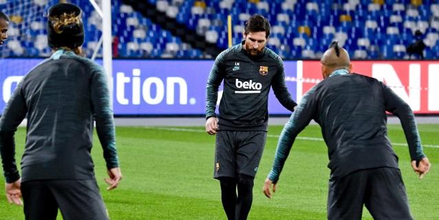 El Barça, aupado por la inercia de Messi, juega por primera vez en San Paolo