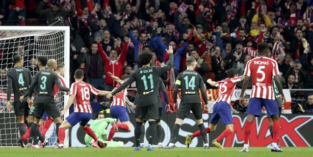 1-0. El Atlético resurge y derrota al Liverpool