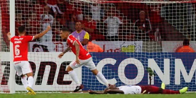 1-0. La conexión D'Alessandro-Guerrero mete al Inter en la fase de grupos de la Libertadores