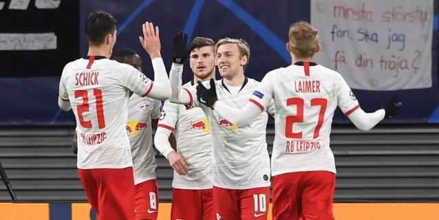 3-0. Sabitzer lidera victoria y pase a cuartos del Leipzig